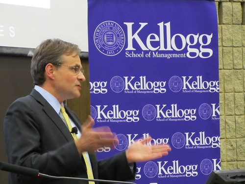 Simon Johnson speaking at Kellogg