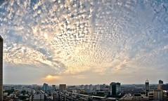Setting Sun @ Xinxiang... (JY & SY) Tags: china city sunset landscape nikon panoramic henan settingsun d90 jysy xinxiang