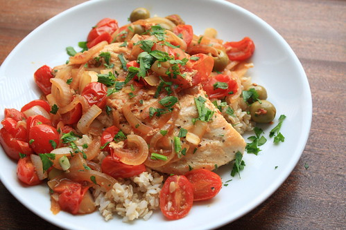 Chicken with Tomatoes and Olives