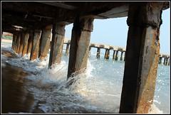 DSC_1627 (eopath) Tags: travel sea wallpaper india lake water port reflections river harbor pier drops nikon heaven shadows scenic tunnel hues saturation dslr chennai monoliths rive bayofbengal d60 ennore eopath