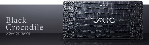 Sony VAIO P Black Crocodile
