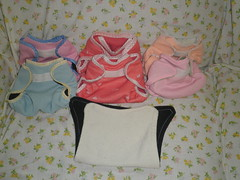 The diaper covers I made