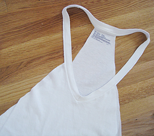 T-shirt DIY+Bathing suit slub cover up -8