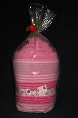 Strawberry Swirl Towel Set (Cupcake Kisses) Tags: pink baby cute cakes girl cupcakes soft candy sweet sassy towel flannel babyblanket ultrasoft receivingblanket cupcaketowel bathtowelset washclothtowelset cupcaketowelset