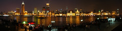 Shanghai - Bund Panorama (cnmark) Tags: china light panorama night river geotagged noche shanghai riverside nacht famous panoramic explore promenade noite   rickshaw  nuit  stitched bund notte nachtaufnahme huangpu lujiazui  explored allrightsreserved  mygearandmepremium mygearandmebronze geo:lat=31238142 geo:lon=121491644