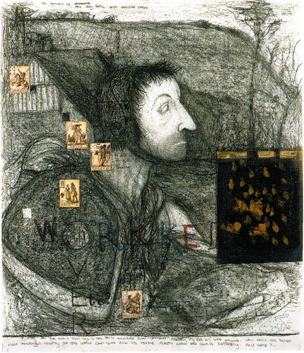 Study for Parable of the Blind, Details after Bruegel, 1994, Mixed media, William T. Wiley
