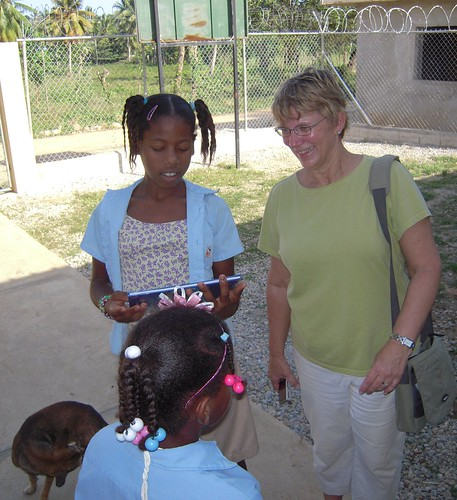 Sharon helping Dominican Republic children and the community