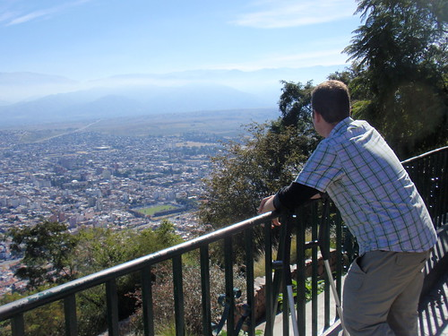 Looking out on Salta