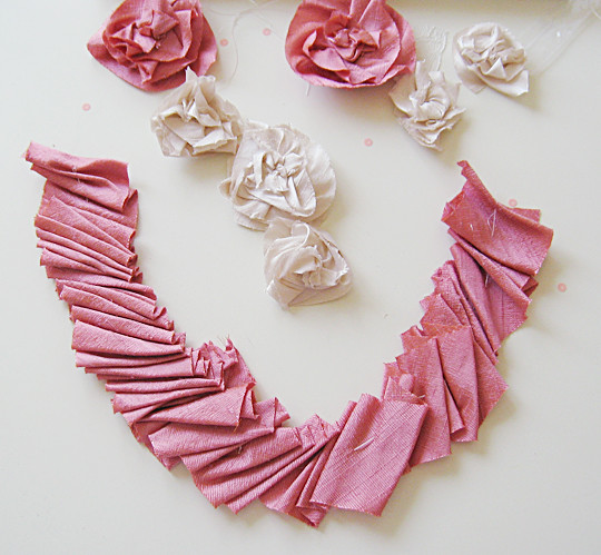Silk Flower Necklace DIY -3