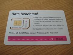 SIM, Mini-SIM und Micro-SIM (3FF) von T-Mobile