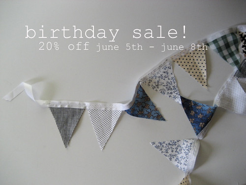 birthday sale!