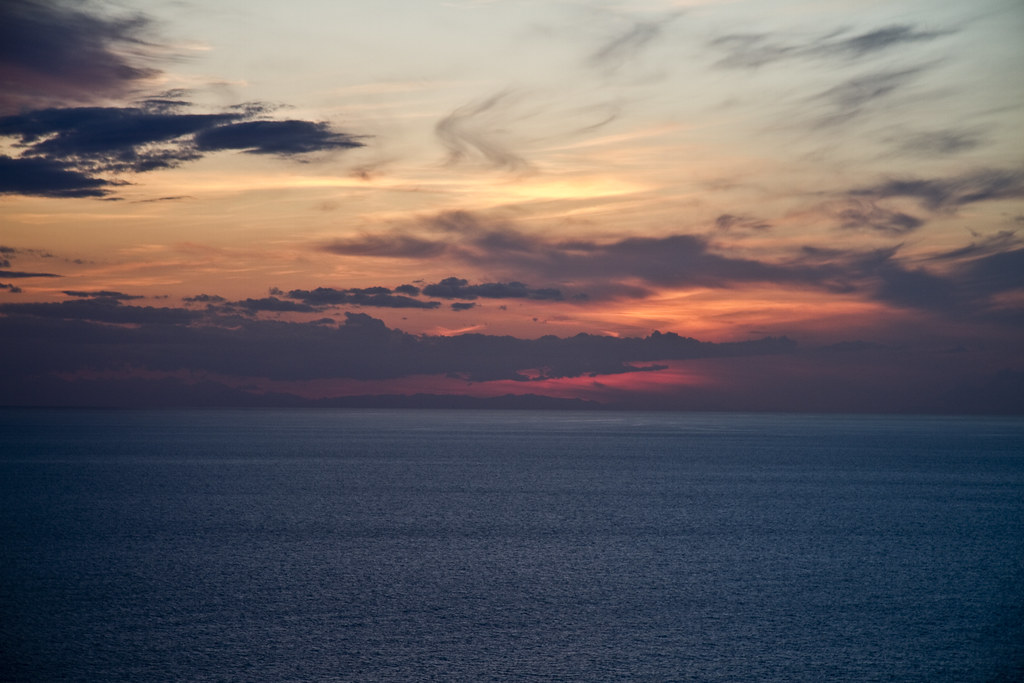 Sunset over Tuscany Sea (by storvandre)
