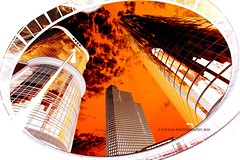 [EXPLORE FP] FIRE IN THE SKY (ANVAR - RUSSIANTEXAN ) Tags: reflection fire interestingness texas skyscrapers towers protest documentary houston gas explore negative pollution highrise oil bp fp frontpage chevron enron russiantexan explored anvar d700 khodzhaev russiantexas svetan gulfoilspill exploredjun6201032