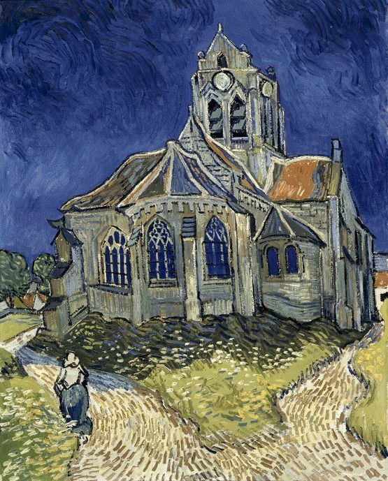 The Church in Auvers-sur-Oise, View from the Chevet