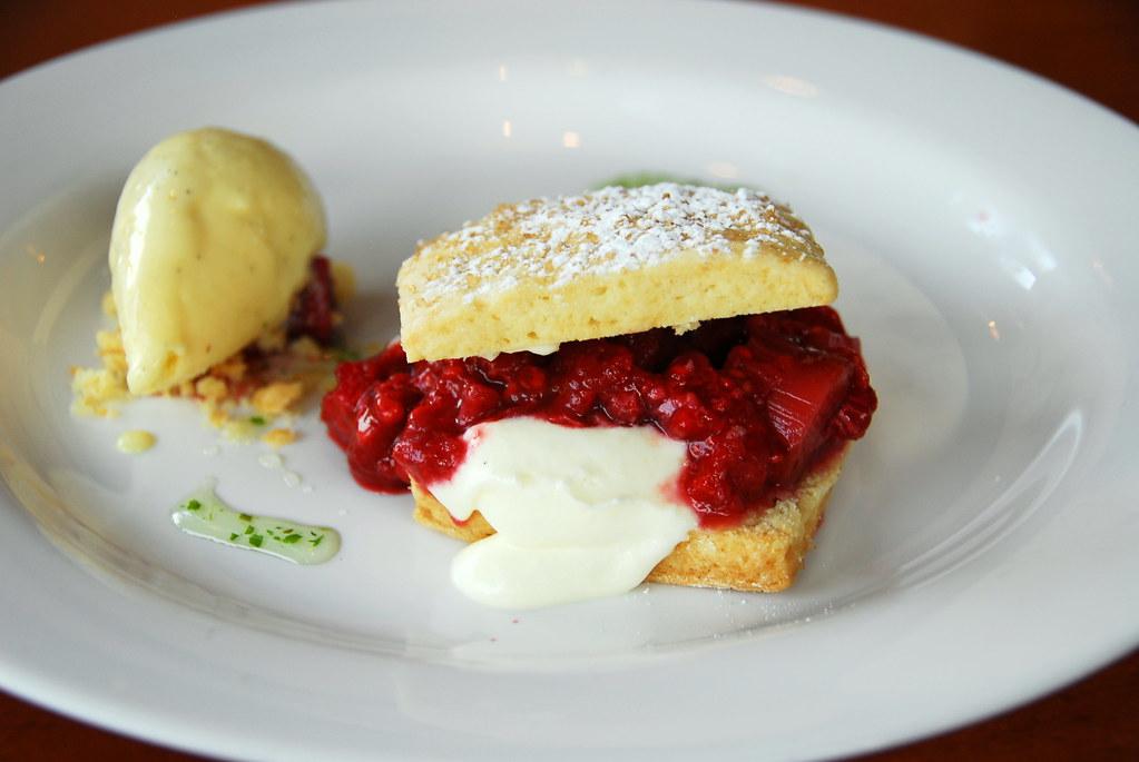 Restaurant Alma:  Rhubarb Shortcake
