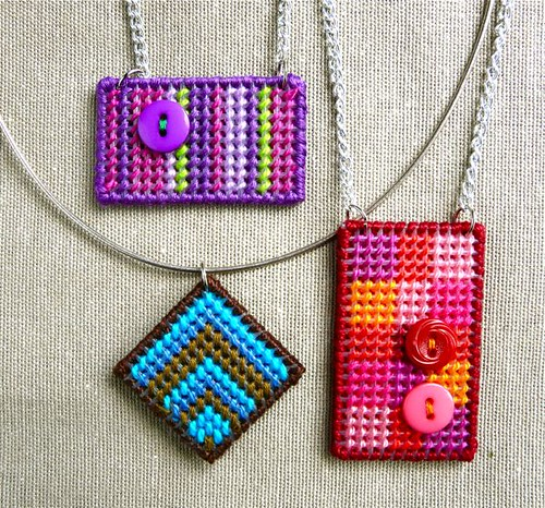 How to Make a Needlepoint Pendant (Yes! With Plastic Canvas!)