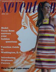Seventeen magazine april 1967 (Simons retro) Tags: magazine mod 60s 1967 april 1960s seventeen