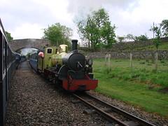 Northern Rock (ChrissieT) Tags: engine railway steam rer 2010 eskdale ratty ravenglass northernrock dalegarth uksteam