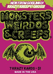 Monsters, Weirdos & Creeps wax pack