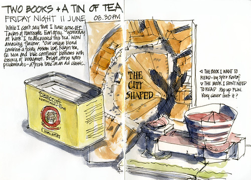 100611 Two books and a tin of tea