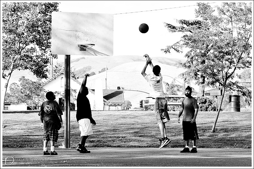 Basketball B&W.