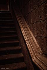 Escalera medieval (Gonzalo Dniz) Tags: nikon medieval lugares escaleras camaras 2010 piedra coln museos sigloxv d90 museodecoln