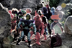 By the ruins of Castle Greyskull (magnushamar) Tags: old two man castle vintage toy action bad figure masters he tri universe skeletor eternia greyskull battlecat beastman klops stinkor matell grizzlor clawful rattlor mantenna spikor