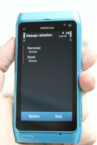 Nokia N8 from the side