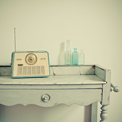 (_cassia_) Tags: blue radio vintage grey cream marble glassbottles washstand cornersofmyhome