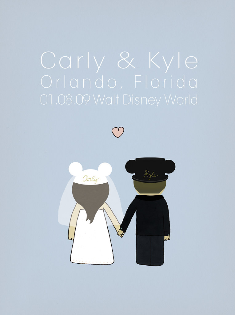 Carly & Kyle - wedding poster art