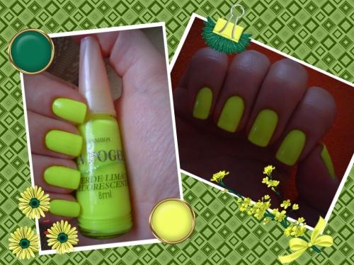 esmalte verde limão fluorescente