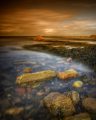 Back to Stoneybeach (BoboftheGlen) Tags: beach coast scotland clyde prestwick firth ayrshire stoneybeach the4elements