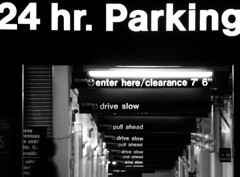 24 hr. Parking / todas las advertencias todas (Romulo fotos) Tags: people woman ny station yellow night train subway tren lights luces noche women metro swiss running personas amarillo rails subterraneo meter helvetica subterranean estacion mujeres rotulo arcs torun corriendo correr arcos letra tipo tipography rieles signo clarooscuro flickrduel romulomoyaperalta simbolo simboly clearlydark romulomoyaperalta senaletica