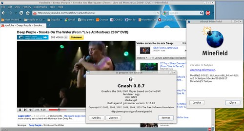 gnash 0.8.7 sur Youtube ;)