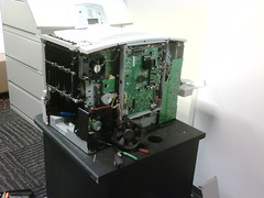 Lexmark C782 nearing disassembly