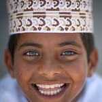 Blue eyed kid in Masirah Island , Oman