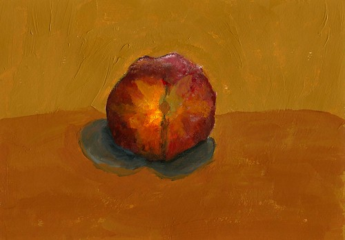 peach on table