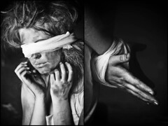 (Patrik Wagner) Tags: portrait blackandwhite girl photography pain glamour prayer poor dirty passion suffering