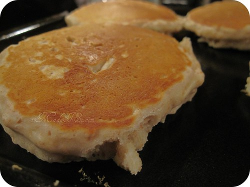 fluffy golden whole wheat pancakes