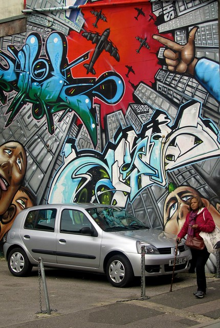 Graffiti Mural-car
