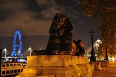 Victoria Embankment Sphinx. (John A King) Tags: sphinx night dark victoria embankment