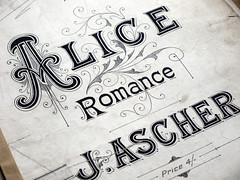 Music Sheet Alice (jacqui sharples) Tags: vintage typography