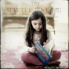 (Karla Pitts) Tags: texture girl lensbaby reading book child wideangle composer ojoyous1 kimklassen