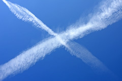 saltire sky (mark gorman) Tags: blue sky scotland saltire autumncrispautumnalscotlandscottish