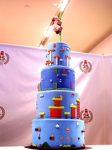 mario 25th anniversary cake