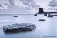 Flat (Azzmataz) Tags: sea black sunrise stack whitby nab saltwick anthonyhallphotography