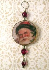 2010 Holiday Ornament Collection - Victorian Santa in Crimson