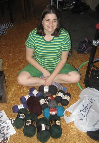 Cassie got yarn
