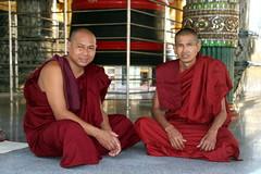 Two Monks (Alan1954) Tags: yangon myanmat buddhist two men swedagontemple burma asia holiday 2016