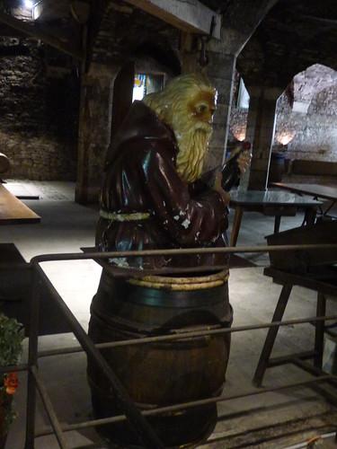 Patriarche Beaune - wine cellars - sculpture on a barrel